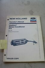 New Holland 474 Haybine Operators Manual 1989