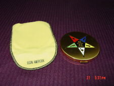 Vintage Elgin American Face Powder Compact Eastern Star Unused Puff Intact
