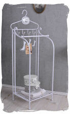 Bathroom Shelf Shabby Chic Handtowel Stand Towel Rail White Metal Shelf