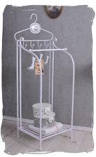 Badregal Shabby Chic Handtuchständer Handtuchablage Weiss Metallregal