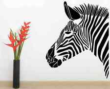 Zebra Wall Art Vinyl Sticker Decal Mural Gift Birthday Living Room Bedroom Decor