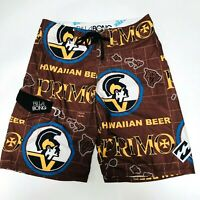 fbb8d93b25 Primo Beer Billabong Board Surf Swim Shorts Trunks Mens Size 32 Brown
