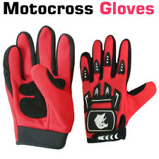 New Children's Kids Motocross Gloves Red/Black Sports Cycling Gloves Size UK