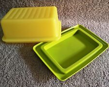Tupperware - BUTTER box 500gm GREEN base & Yellow top, LAST FEW LEFT - HURRY UP