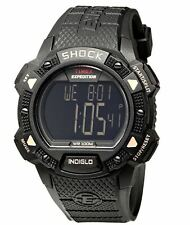 NEW! TIMEX MEN'S T498969J BLACK DIGITAL EXPEDITION SHOCK CAT WATCH WR100 METERS