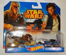 HOT WHEELS 1:64 STAR WARS CHEWBACCA & HAN SOLO SET OF 2 NEW IN PACK NEW IN PACK