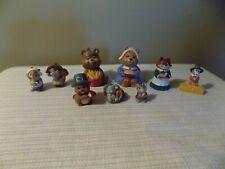 Vintage Lot Of 9 Thanksgiving Hallmark Merry Miniatures! Figurines 1990s
