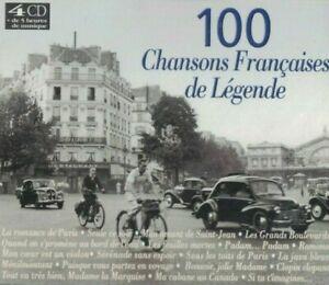 COFFRET 4 CD 100 CHANSONS FRANCAISES DE LEGENDE