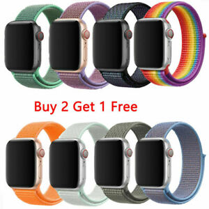 Iphone Apple Watch Series 6 5 4 3 2 SE 38/40/44mm Nylon Sport Band For iWatch