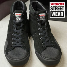 VISION STREET WEAR Skateboards Sneakers SUEDE HI VSW-7351 Black Japan Limited