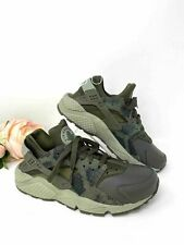 SIZE 7 Sneakers Women's Nike Air Huarache Run PRM Cargo Khaki Green 683818 302