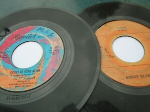 """TWO NORTHERN SOUL 7"""" 45s = BOBBY BLAND = SHOES = PARLIAMENTS = DON'T BE SORE AT"""