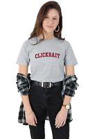 Clickbait T-shirt Top Shirt Tee Fashion Retro Varsity David Dobrik Click Bait