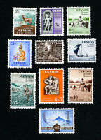 Ceylon Stamps # 319-28 XF OG LH Set of 10 Scott Value $85.70