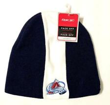 Colorado Avalanche Reebok Blue with Bold Stripe Cuffless Knit Hat Beanie - New