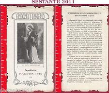 2215 SANTINO HOLY CARD IL DIVIN REDENTORE CAPODISTRIA PASQUA 1915 PREGHIERA