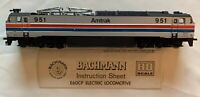 BACHMANN 0750 E60CP ELECTRIC LOCOMOTIVE