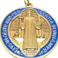 """Saint Benedict 2"""" Medal - Exorcism - Medalla De San Benito Blessed By Pope"""
