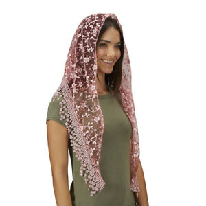 Chapel Veil with Tassels - Rose