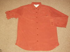 The North Face Mens Rust Orange Button Down Front Hiking & Fishing Shirt L large