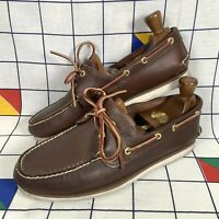 Timberland Classic 2 Eye Brown Leather Deck Boat Shoes Mens Size UK 9.5 EU 44.5