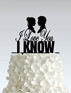 I Love You I Know Star Wars Wedding Cake Topper - STW06