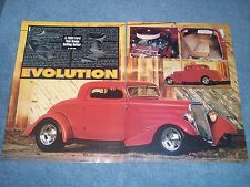 "1934 3-Window Coupe Vintage Street Rod Article ""Evolution"""