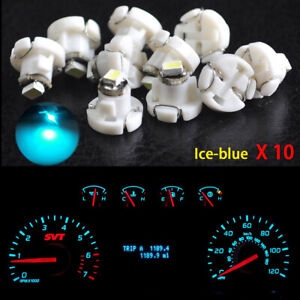 10x Ice Blue T4.2 Neo Wedge SMD Bulbs LED Instrument cluster panel A/C Lights