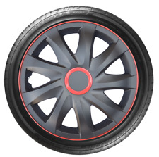 "4 x 16"" Wheel Covers Hub Caps 16 Inch Wheel Trims Trim ABS Plastic Trim KandoRed"