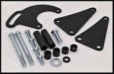 Chevy BBC 454 496 Black Long Water Pump Power Steering Bracket LWP # 3833-BLACK