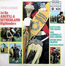 Pipes & Drums 1st Bn Argyll & Sutherland Highlanders 1968 MFP 1253 Stereo NM/EX