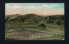 La Crosse Wisconsin WI 1918 Golf Links and Old Sand Tennis Courts, Bluffs Behind