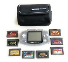 Nintendo Game Boy Advance AGB-001 Handheld System w/ 8 Games & Case