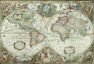 "H.HONDIUS (1615-1676), Historische Weltkarte ""Nova Totius Terrarum Orbis"", Offse"