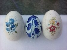 Decorative Collectible Porcelain Egg Lot Of 3 Easter Holiday Spring Home Decor