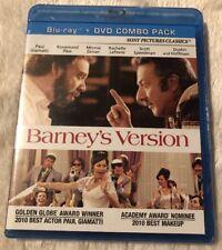 Barney's Version (Blu-ray/DVD, 2011, 2-Disc Set) * NEW *