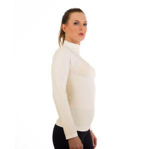 Women Mock Neck Long Sleeve Shirt Turtleneck Top Stretch Slim Fit Tee Shirt