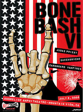 2005 Bone Bash Vi Judas Priest Queensryche Cardboard Vampyres Rock Band Poster