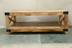Cromer Indian Solid Wood Coffee Table Natural (MADE TO ORDER)