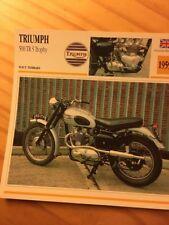 Triumph 500 TR5 Trophy 1959 Carte moto Collection Atlas UK