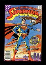 ADVENTURES OF SUPERMAN 424 (8.0) NEWSSTAND 1ST APP CAT GRANT DC (B048)