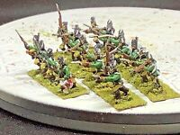 15mm Handpainted AWI Loyalists Queen's Rangers Regiment ( 20 Figs w/ Command)