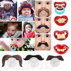 Teeth Mustache Baby Boy Girl Infant Pacifier Orthodontic Dummy Beard Nipples