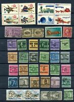 LOT OF42 USED & PRECANCELED STAMPS  -   SEE PHOTO'S   -   IN EXCELLENT CONDITION