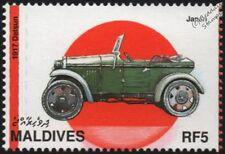 DAT 1917 (coche japonés del automóvil Datsun) como nuevo sello Maldivas (1997)