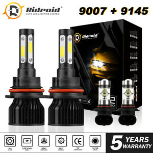 LED Headlight Bulbs 9007 +  Fog Light 9145 for Ford F-250 Super Duty 2002-2004
