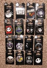 Disney Nightmare Before Christmas NBC Jack Skellington Sally Zero 16 Pin Set