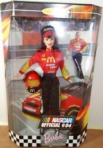 Vintage 1999 NASCAR Official #94 McDonalds Barbie Doll Collector  Damaged Box