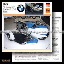 #079.14 SIDE-CAR RACING BMW 500 RENNSPORT 1964 Fiche Moto Motorcycle Card