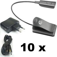 10x LED Minilight Schwanenhalslampe Leselampe Klemmlampe USB Netzteil Flexilight